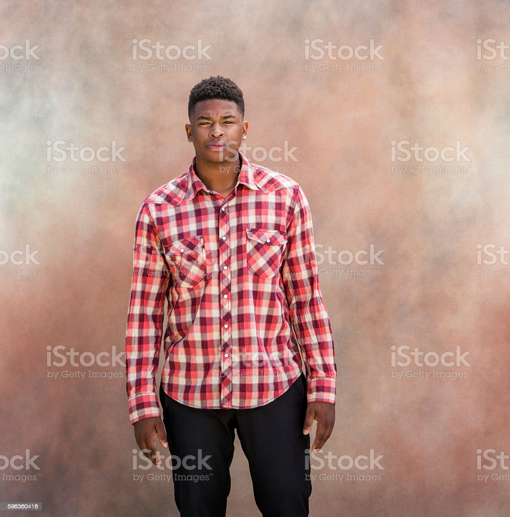 Portrait of Fashionable Black Man royalty-free stock photo