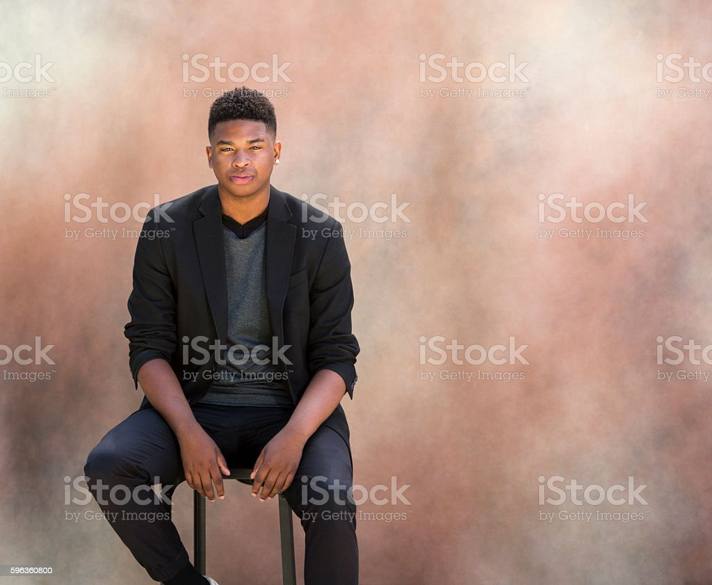 Portrait of Fashionable Black Man royalty-free stock photo