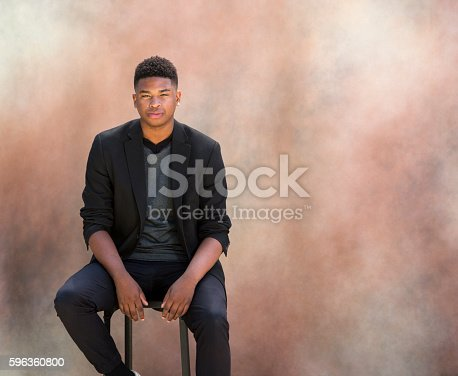 Portrait Of Fashionable Black Man Stock Photo & More Pictures of Accuracy