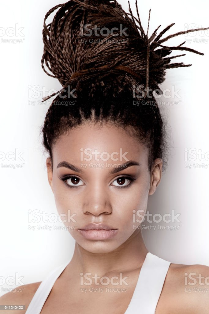 Portrait of fashionable young girl. stock photo
