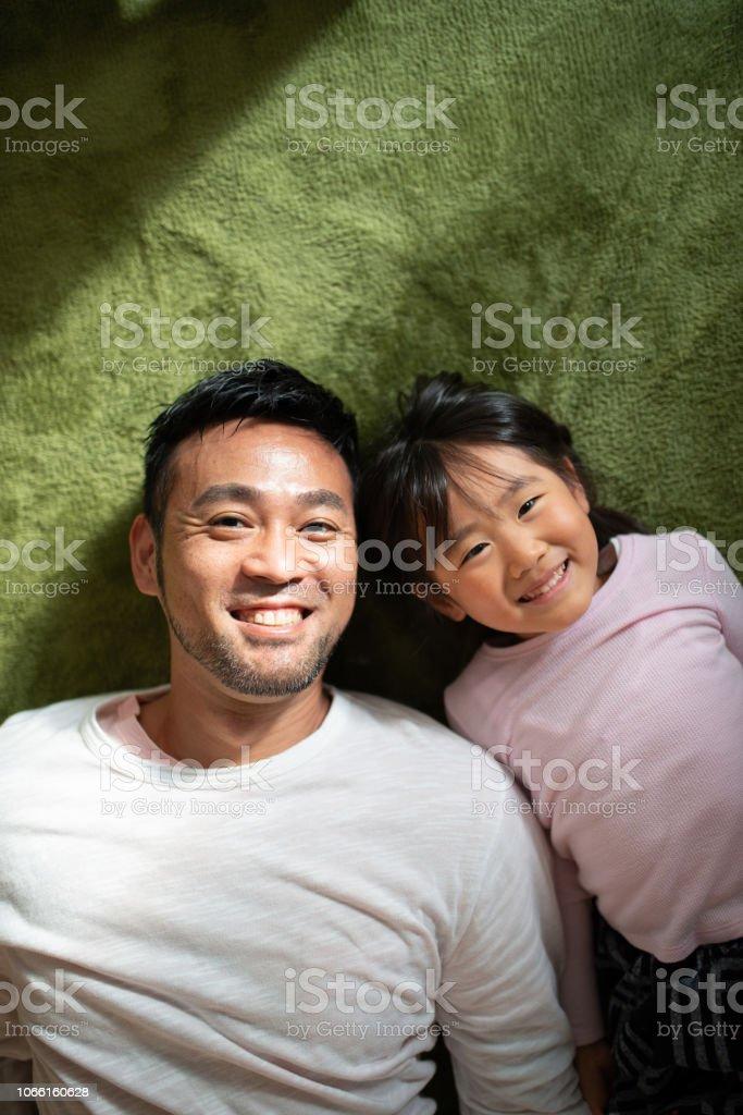 父と娘の肖像 ストックフォト