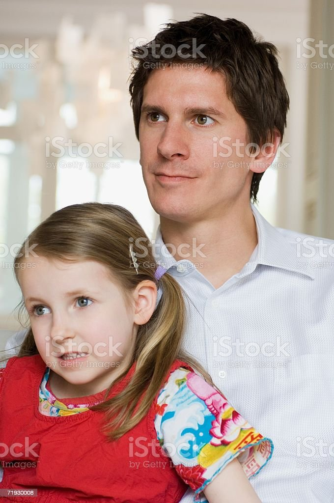Portrait of father and daughter royalty-free stock photo