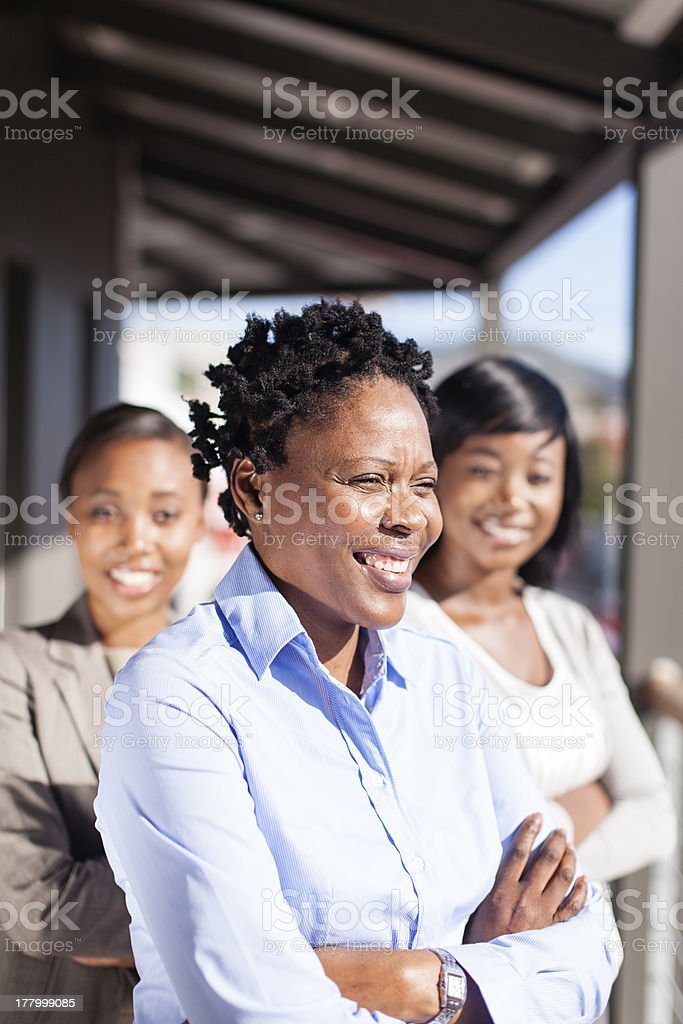 Portrait of female African Busniness Executive team royalty-free stock photo