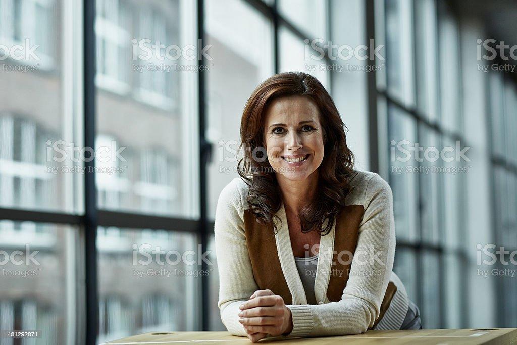 Portrait of female architect stock photo