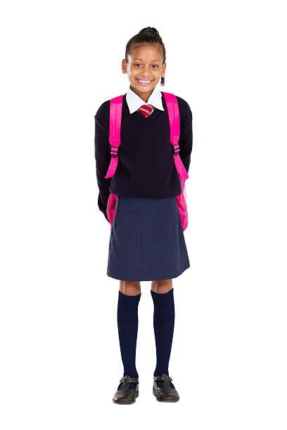 ritratto di donna elementare pupilla - scolara foto e immagini stock