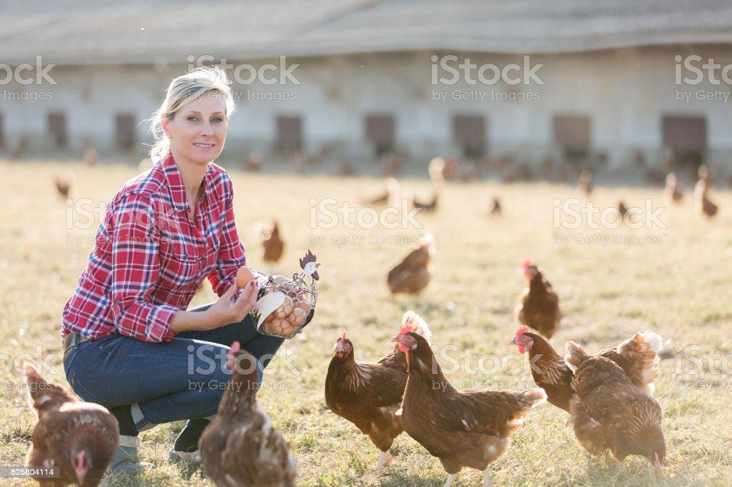Portrait de l'agricultrice - Photo