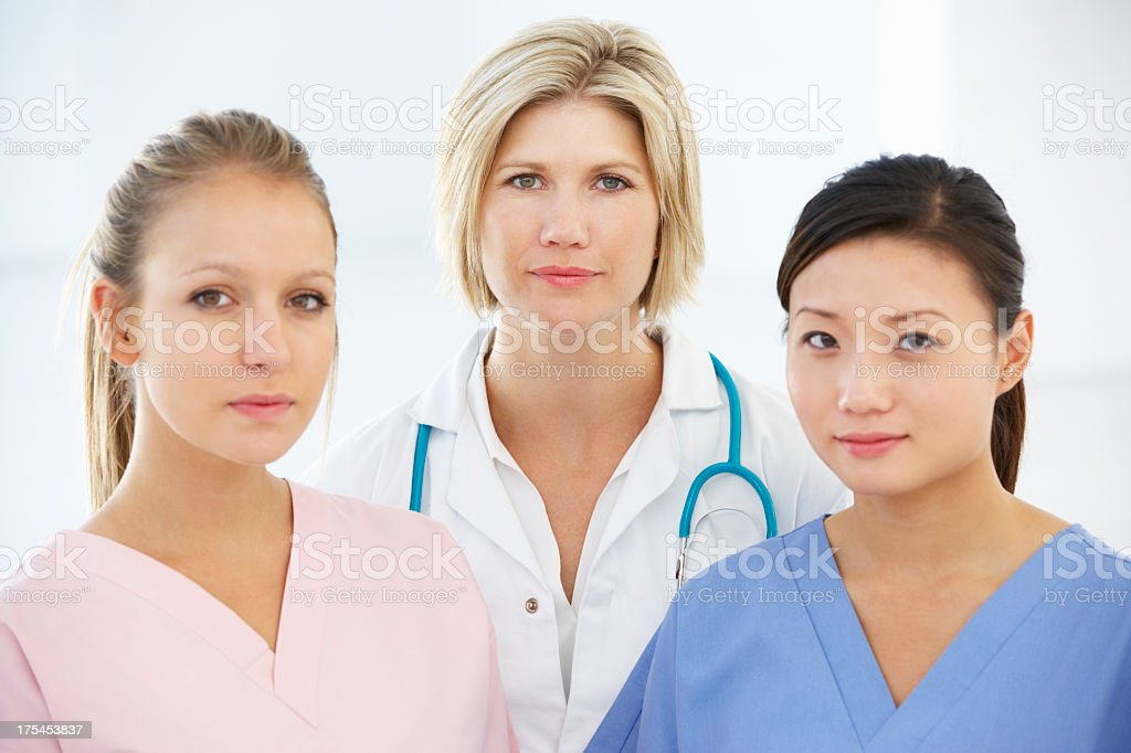 Portrait Of Female Medical Team royalty-free stock photo