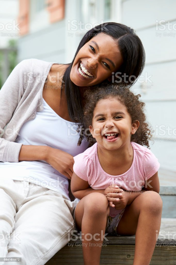 Portrait Of Female Teacher With Pupil At Montessori School royalty-free stock photo