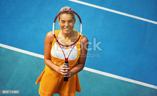1153628111istockphoto Portrait of female tennis player. 603174362