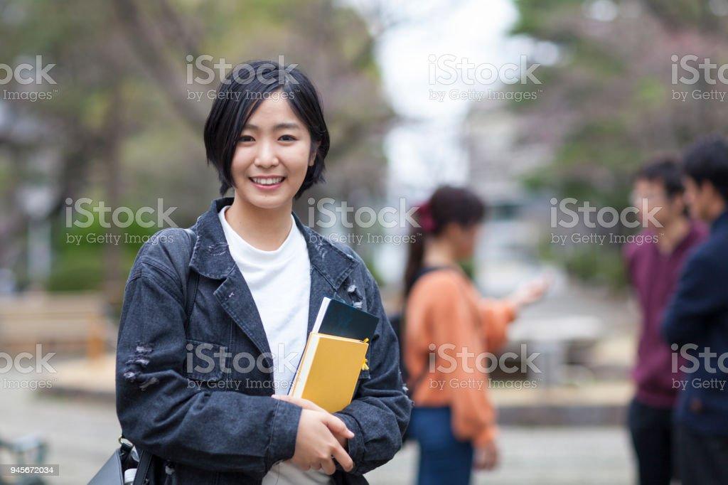 女子大学生の肖像画 ストックフォト