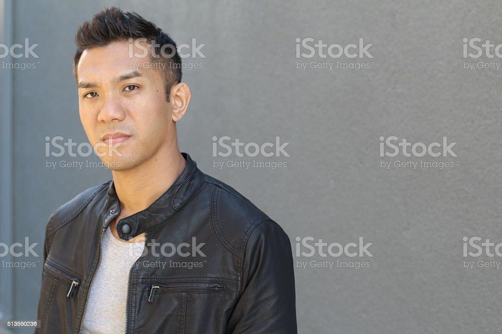 Portrait of Filipino male top model posing stock photo