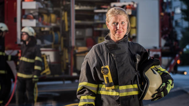 """portrait of firefighter""""n - firefighter stock photos and pictures"""