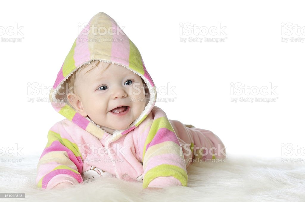 Portrait of five months old baby girl royalty-free stock photo