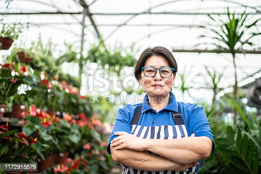 Portrait of Florist Small Business Flower Shop Owner