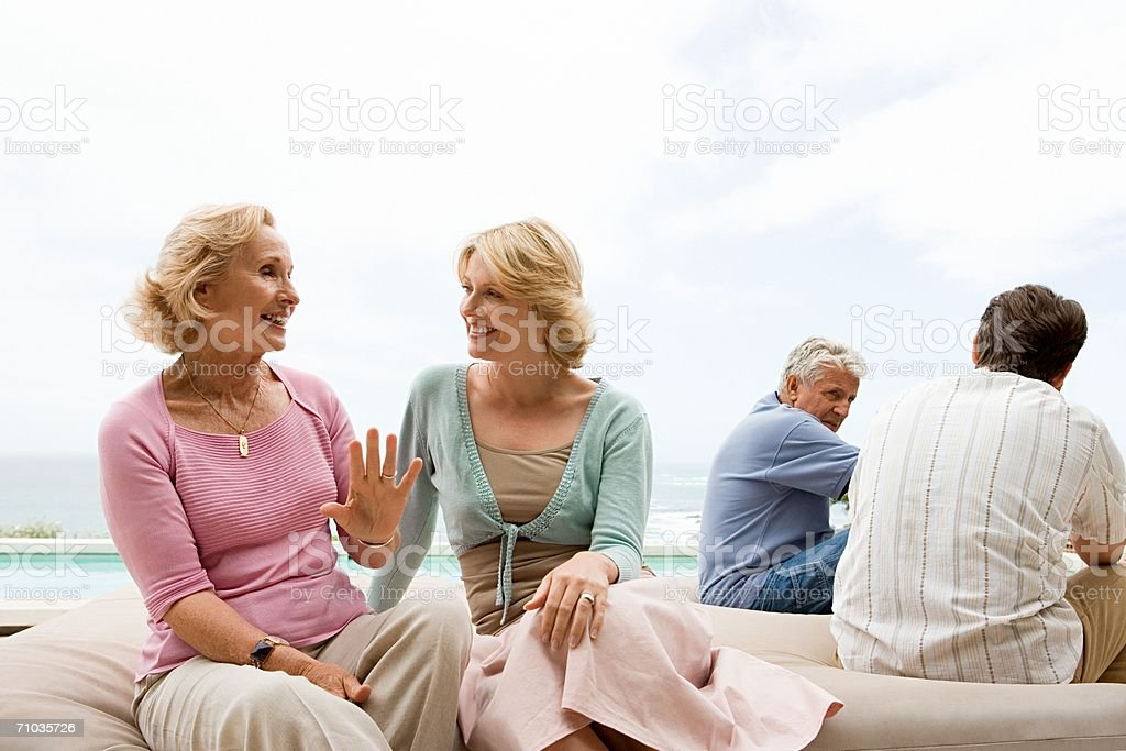 Portrait of four family members royalty-free stock photo