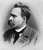 Portrait of Friedrich Nietzsche, German Philosopher