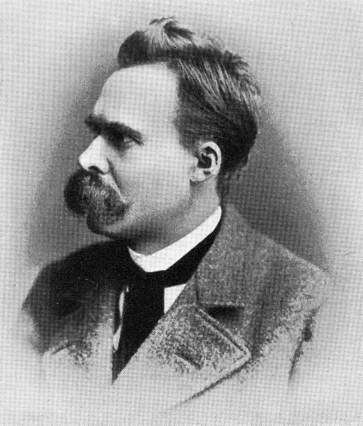 Porträt von Friedrich Nietzsche, deutscher Philosoph – Foto