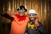 istock Portrait of friends enjoying at party 1272979541