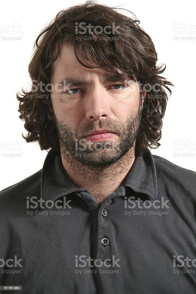 portrait of funny man royalty-free stock photo