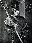 Portrait of Georg von Frundsberg, Mercenaries leader, 1473-1528