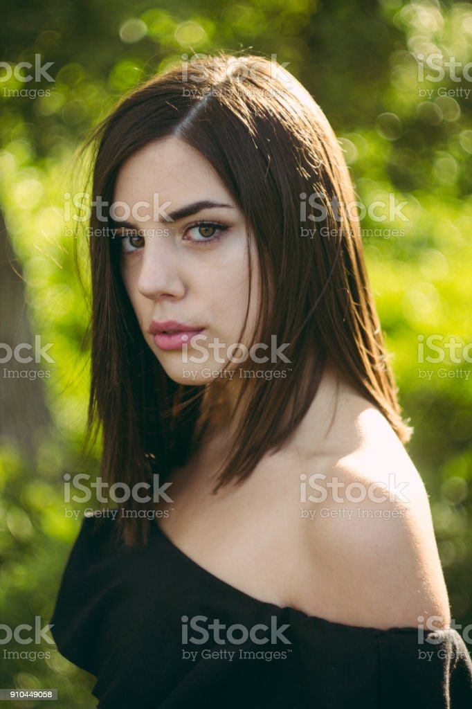 Portrait of girl royalty-free stock photo