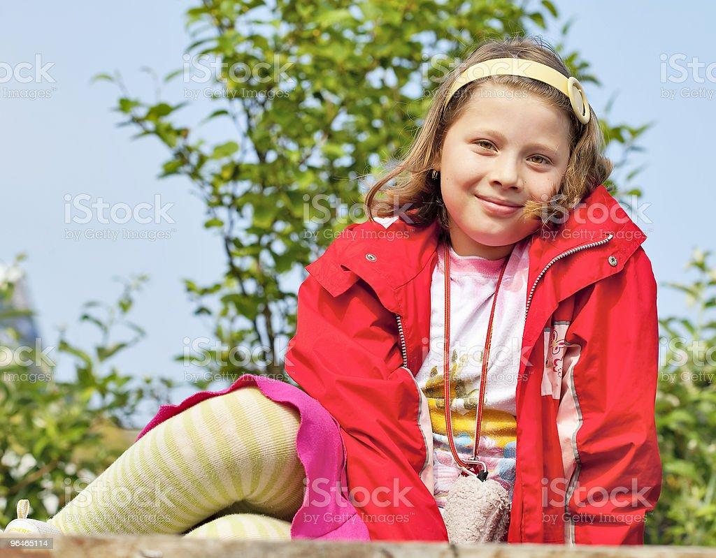 Portrait of girl smiles royalty-free stock photo