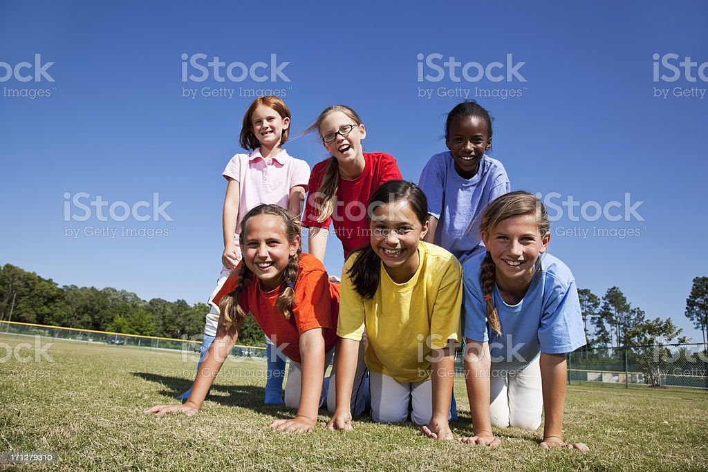 Portrait of girls outdoors royalty-free stock photo