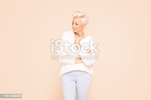 istock Portrait of gorgeous adult woman. 1181408009