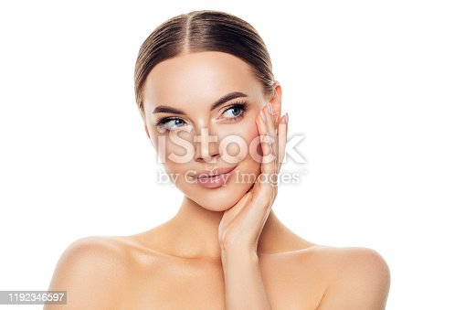 1070715740 istock photo Portrait of gorgeous young woman 1192346597