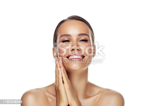 1070715740 istock photo Portrait of gorgeous young woman 1192348349
