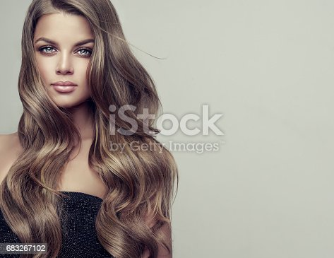 697916070istockphoto Portrait of gorgeous young woman with elegant make up and perfect hairstyle. 683267102