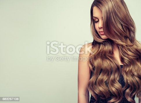 697916070istockphoto Portrait of gorgeous young woman with elegant make up and perfect hairstyle. 683267106