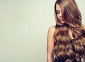 エレガントなメイクアップと完璧なヘアスタイルとゴージャス若い女性の肖像画。