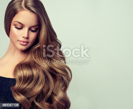 697916070istockphoto Portrait of gorgeous young woman with elegant make up and perfect hairstyle. 683267108