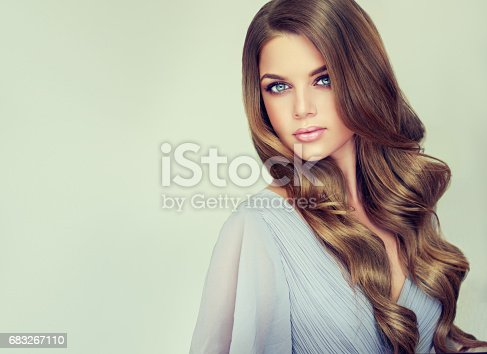 697916070istockphoto Portrait of gorgeous young woman with elegant make up and perfect hairstyle. 683267110