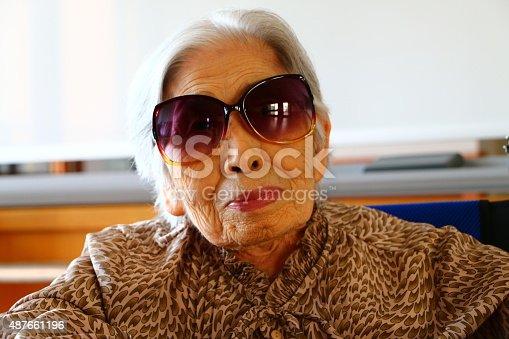 477898387istockphoto Portrait of grandmother 487661196