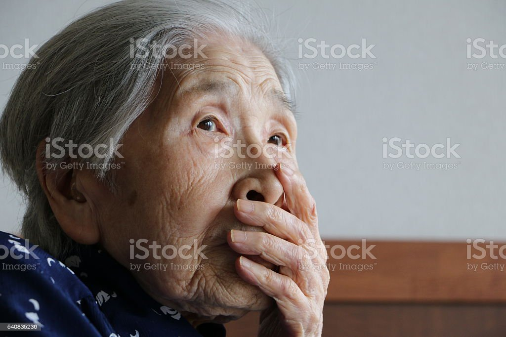 Portrait of grandmother stock photo