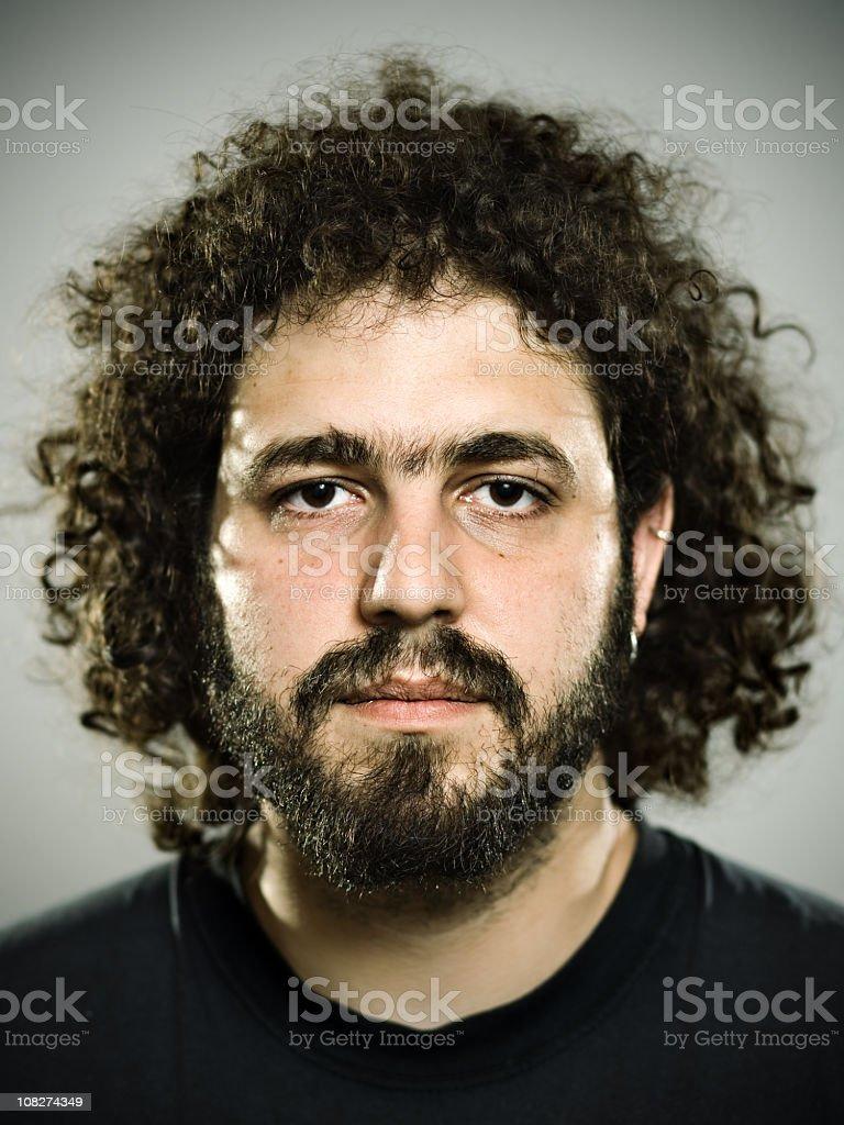 Portrait of hairy man royalty-free stock photo
