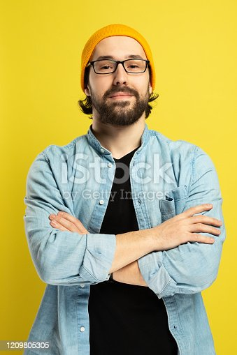 649754038 istock photo Portrait of Handsome Bearded Man 1209805305