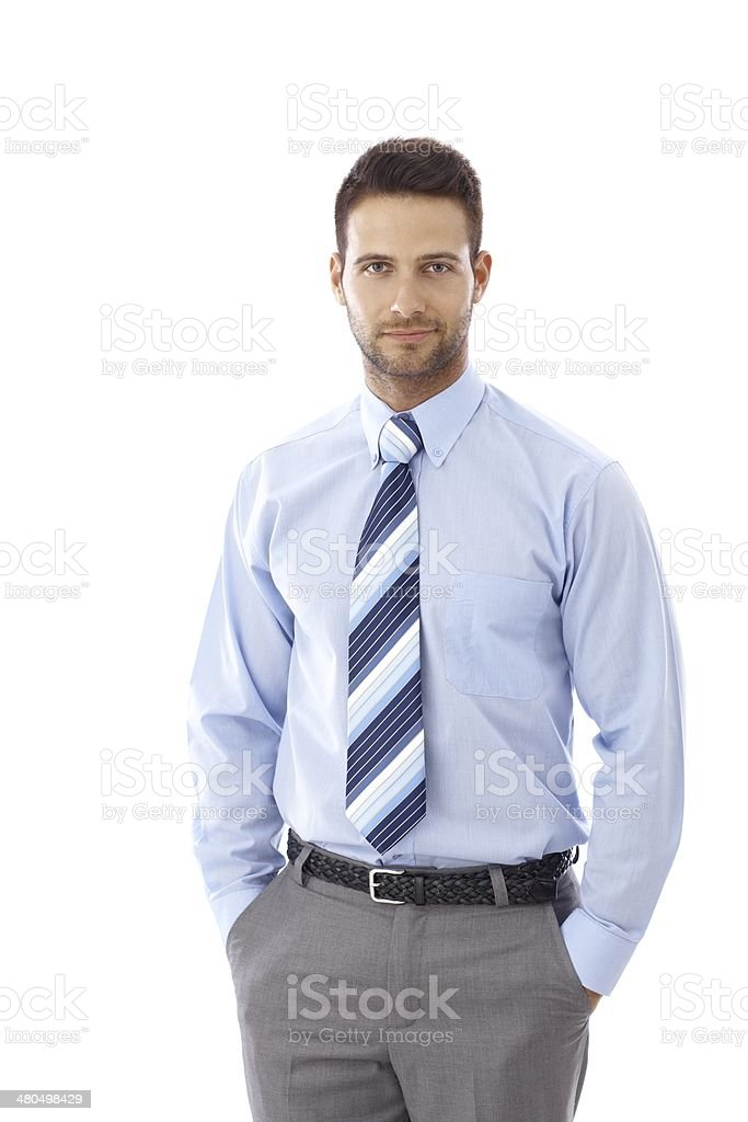 Portrait of handsome businessman stock photo