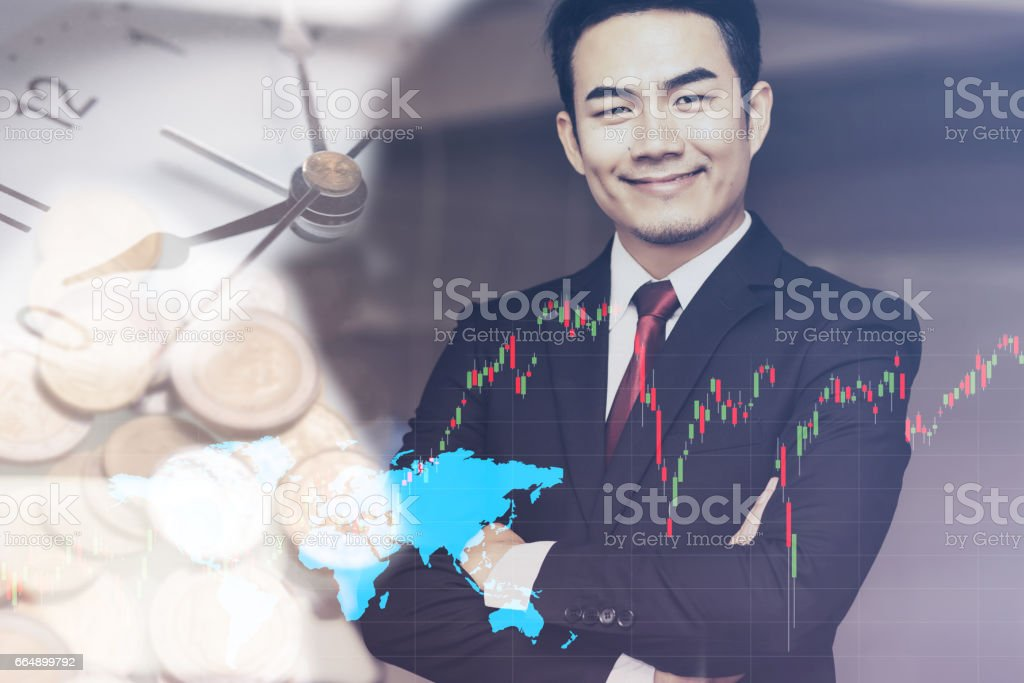 Portrait of handsome confident young businessman smiling foto stock royalty-free