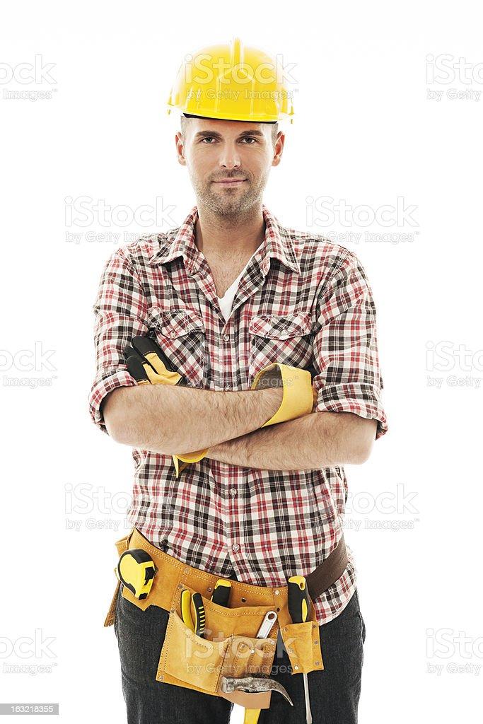 Porträt von gut aussehenden Bauarbeiter – Foto