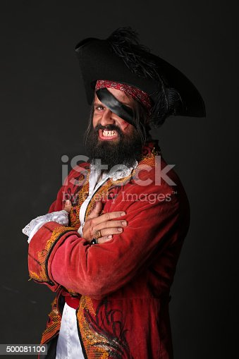 istock Portrait of handsome man in a pirate costume 500081100