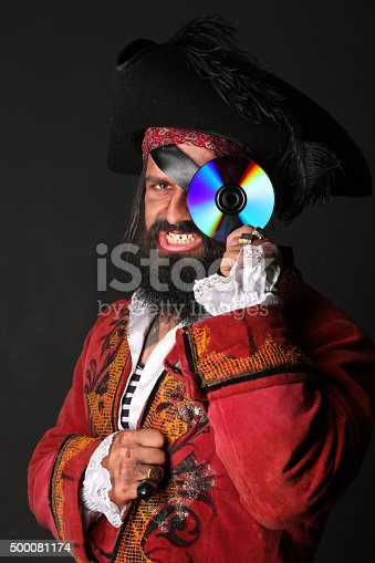 istock Portrait of handsome man in a pirate costume 500081174