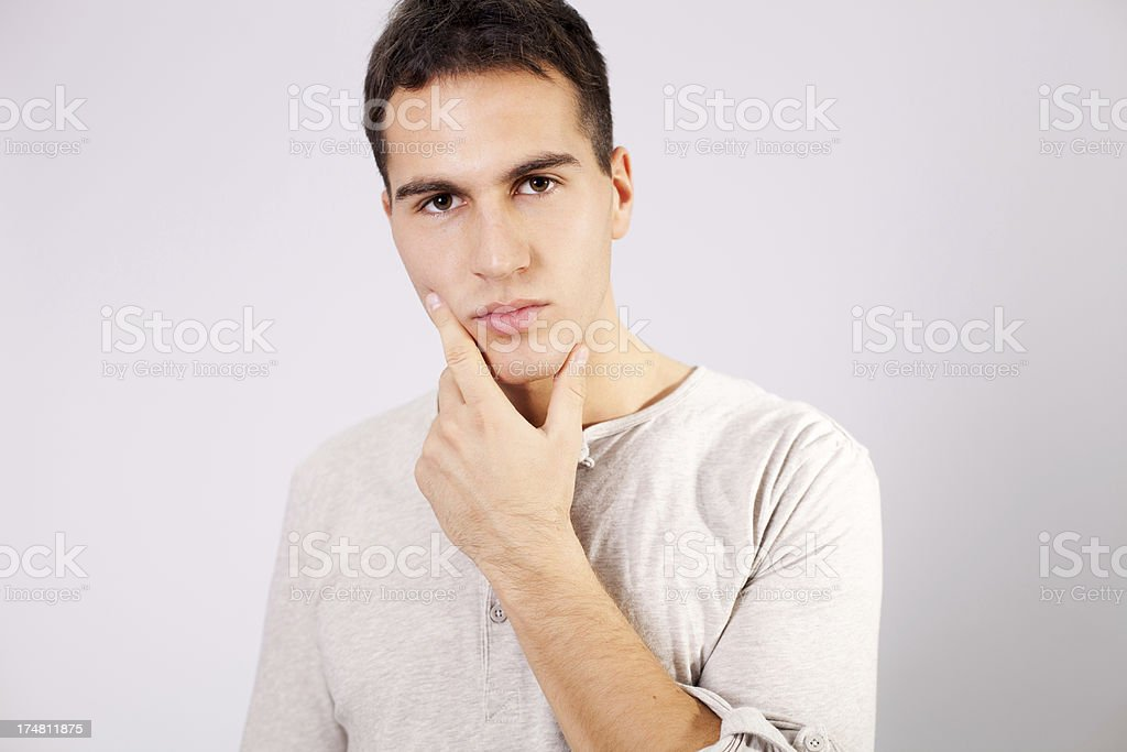 Portrait of handsome man. royalty-free stock photo