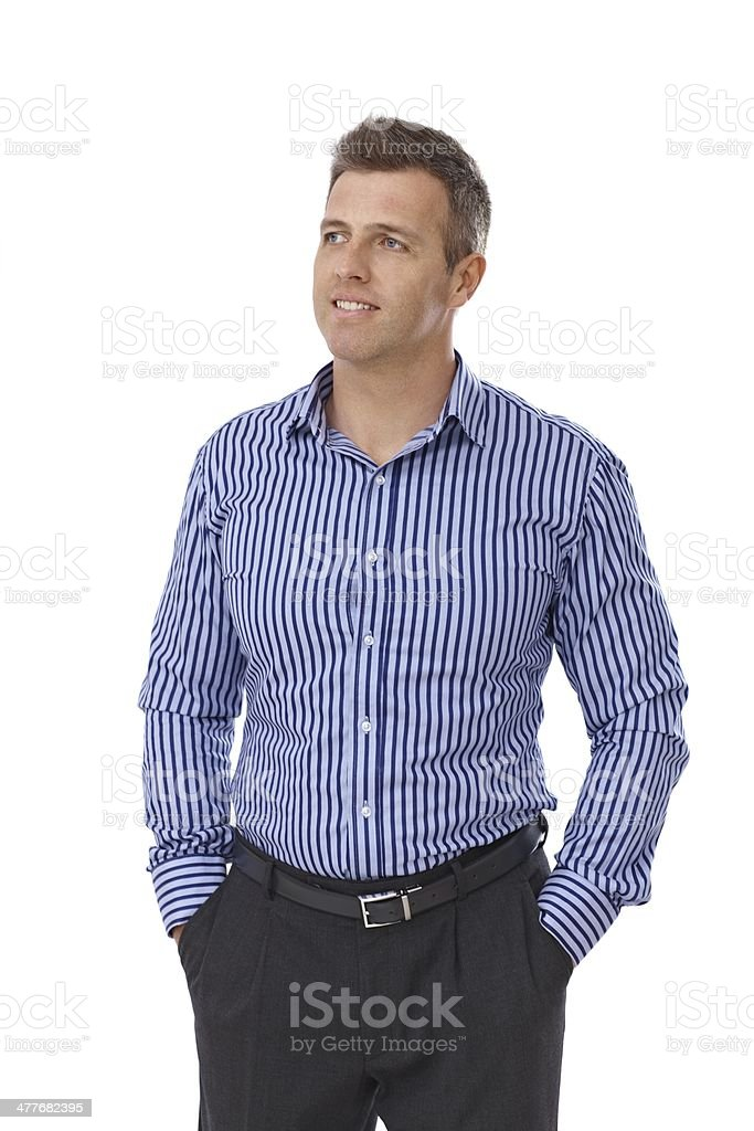 Portrait of handsome man royalty-free stock photo