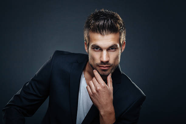portrait of handsome man - handsome people stock photos and pictures