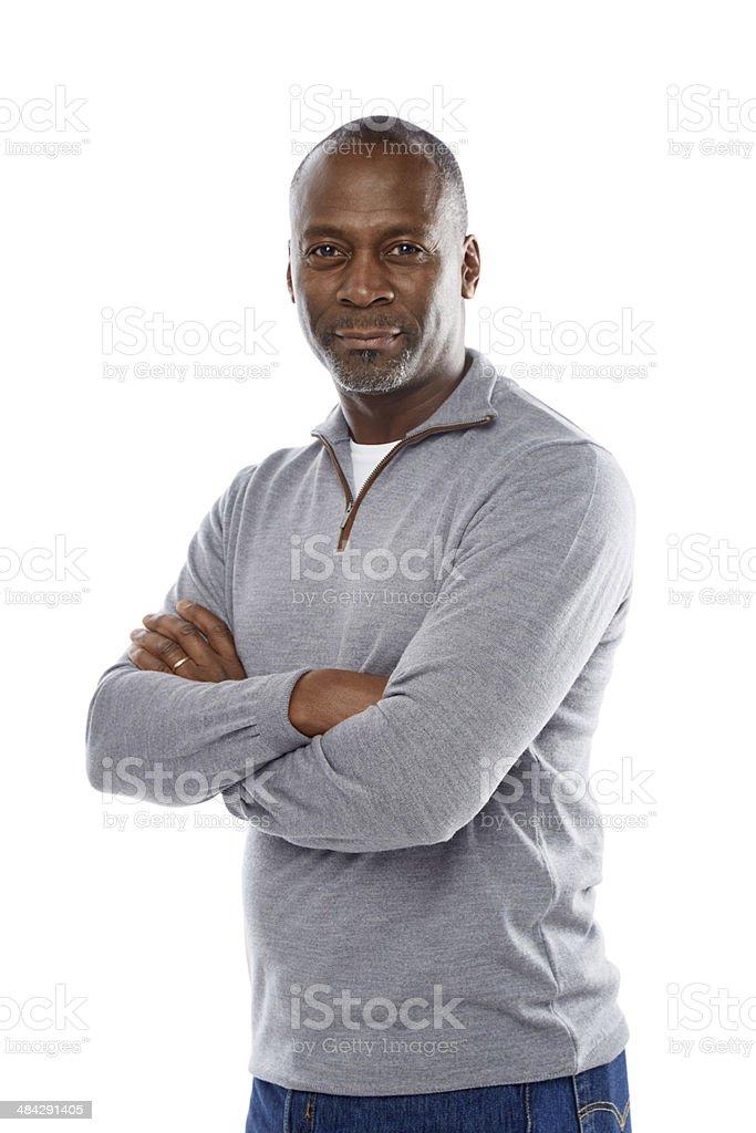 Portrait of handsome mature man stock photo