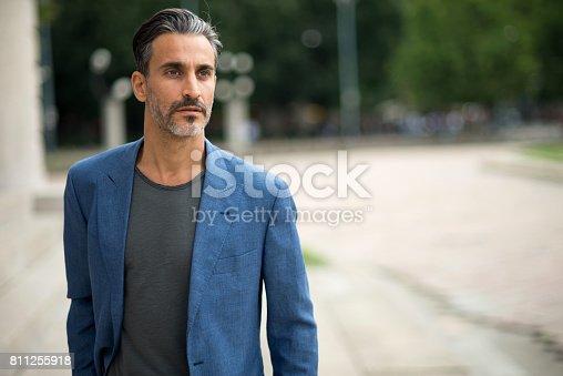 istock Portrait of handsome mature man. 811255918