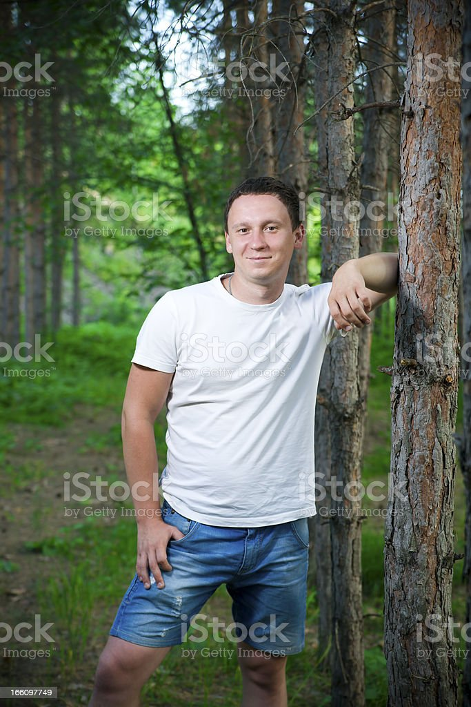 Portrait of handsome men royalty-free stock photo
